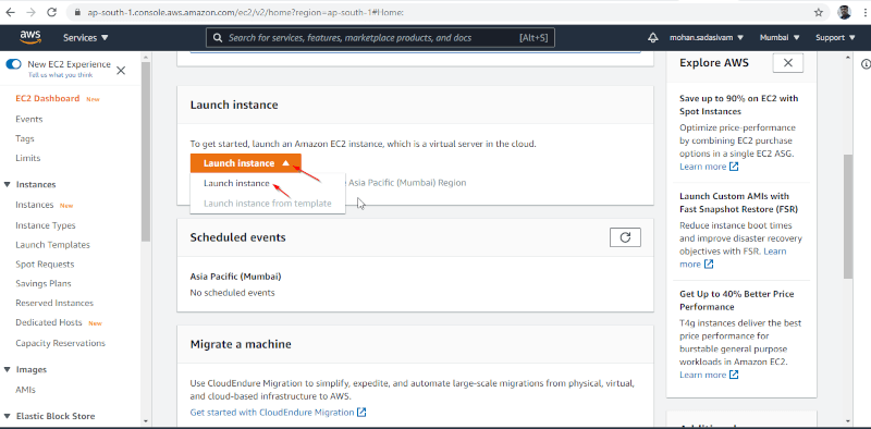 Launch Amazon EC2