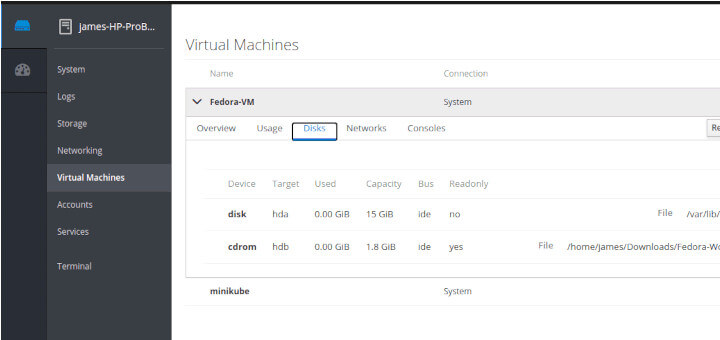 Managing KVM Virtual Machines with Cockpit