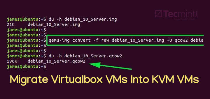 Migrate Virtualbox VMs Into KVM VMs