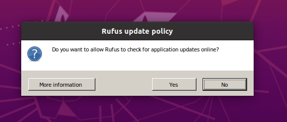 Rufus Update Policy