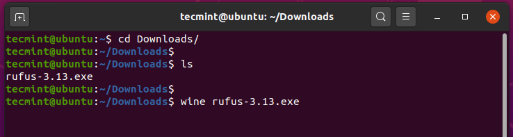 Run Windows Program in Ubuntu