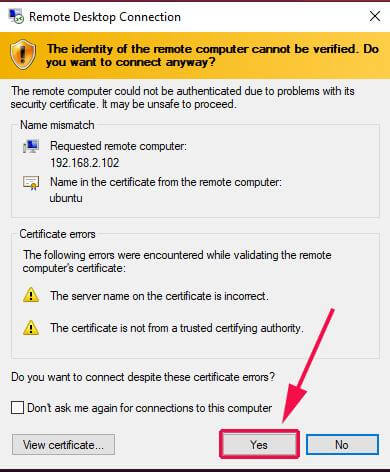 Verify Identity of Remote Ubuntu System