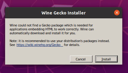 Wine Gecko Installer