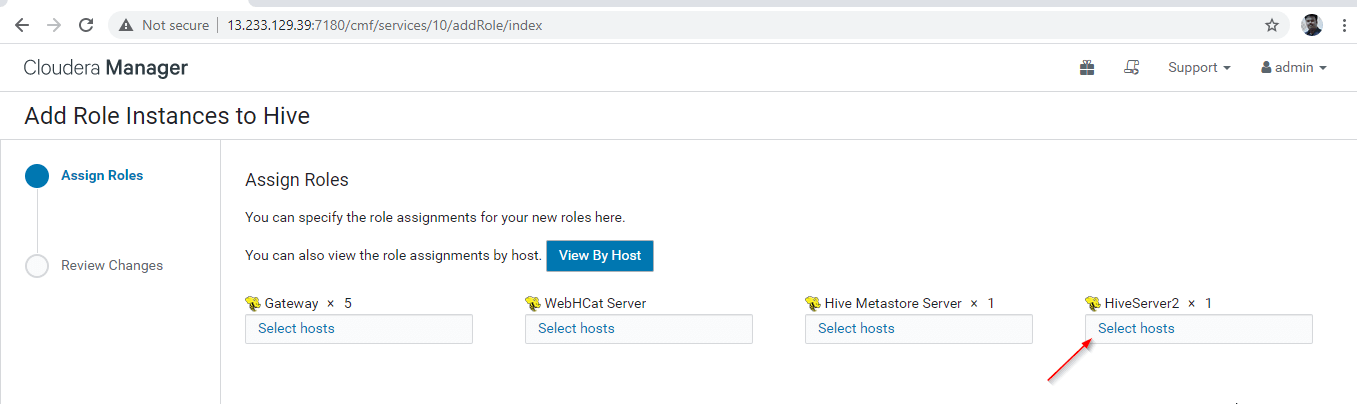 Choose Server for Hive