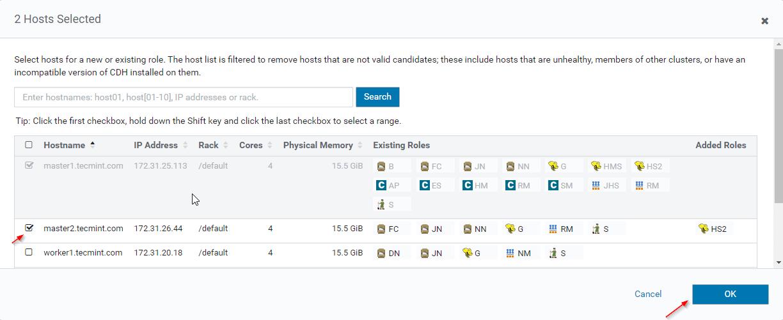 Choose Host Server