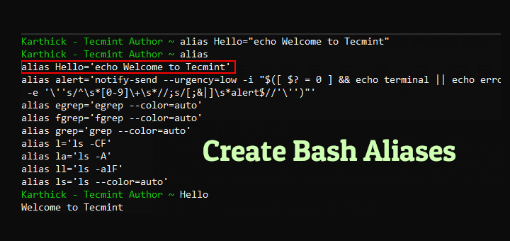 Create Bash Aliases in Linux