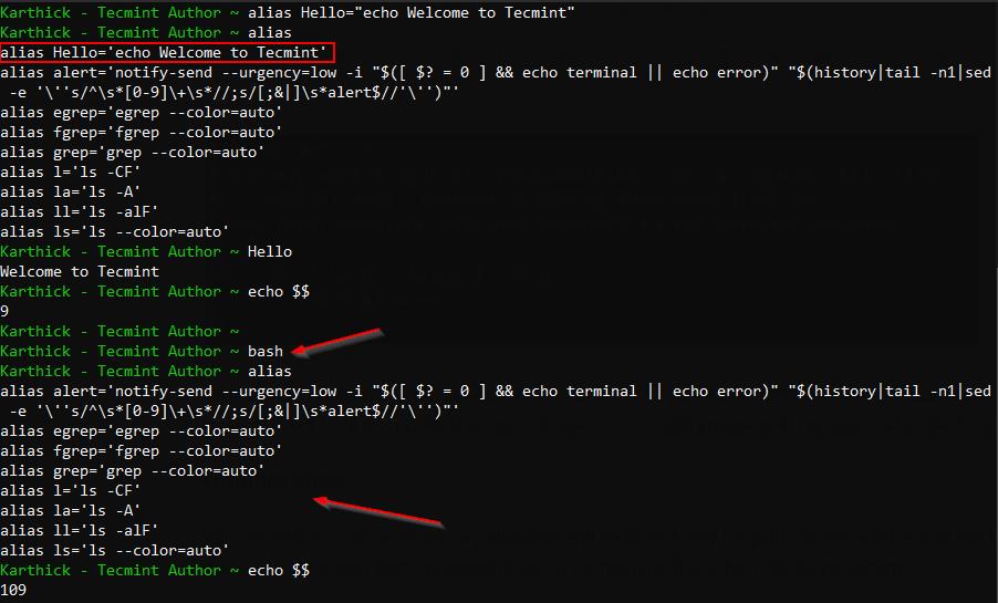 Create an Alias in Linux