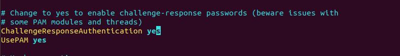 Enable SSH password authentication