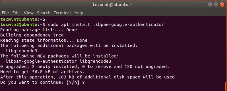 Install Google PAM on Ubuntu