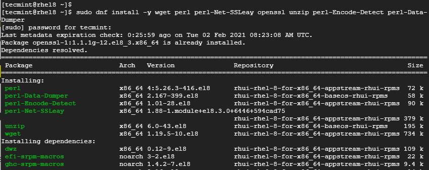 Install Webmin Prerequisites