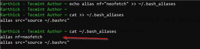 List Defined Aliases