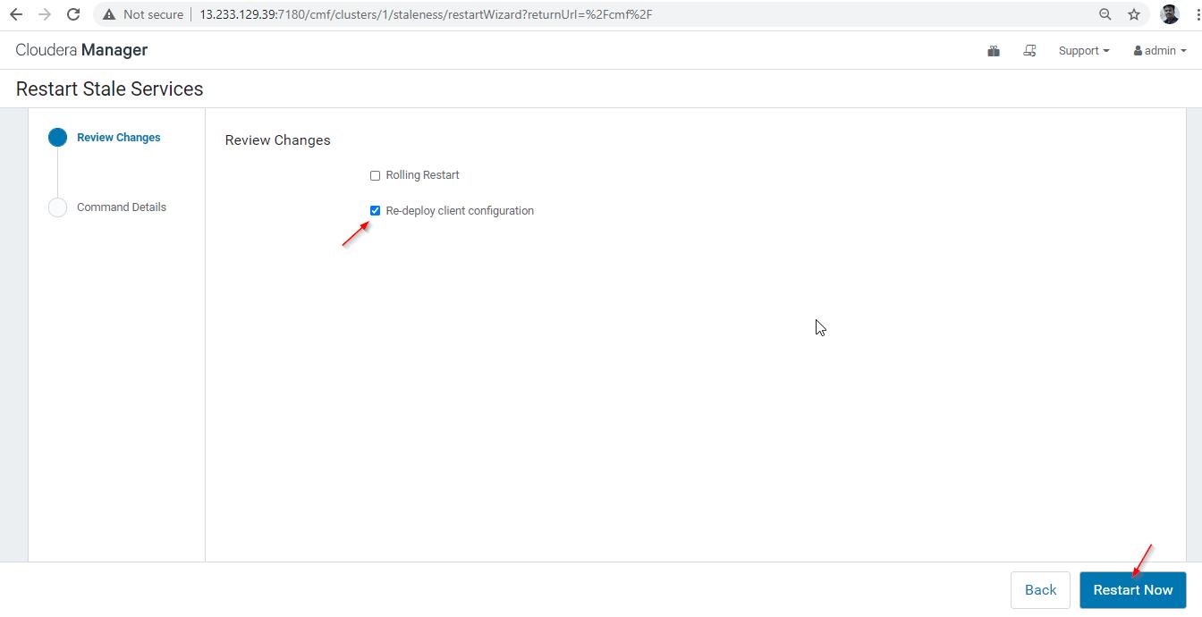 Re-deploy Client Configuration