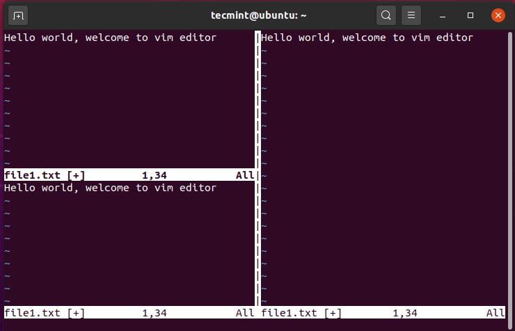 Splitting VIM Screen Horizontally