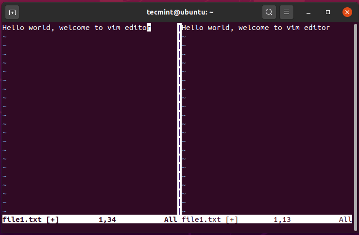 Splitting VIM Screen Vertically