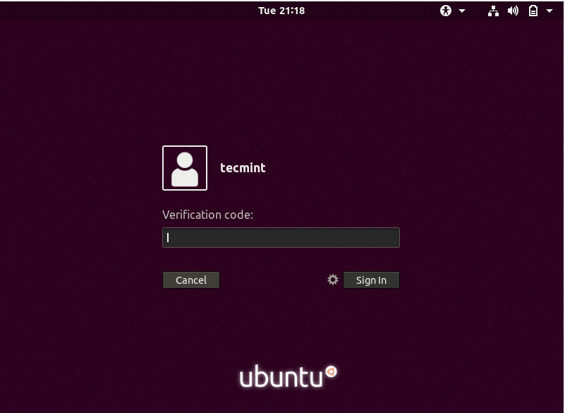 Ubuntu Google Authentication Login