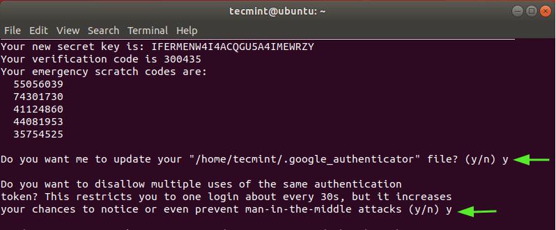 Update Google Authenticator-File