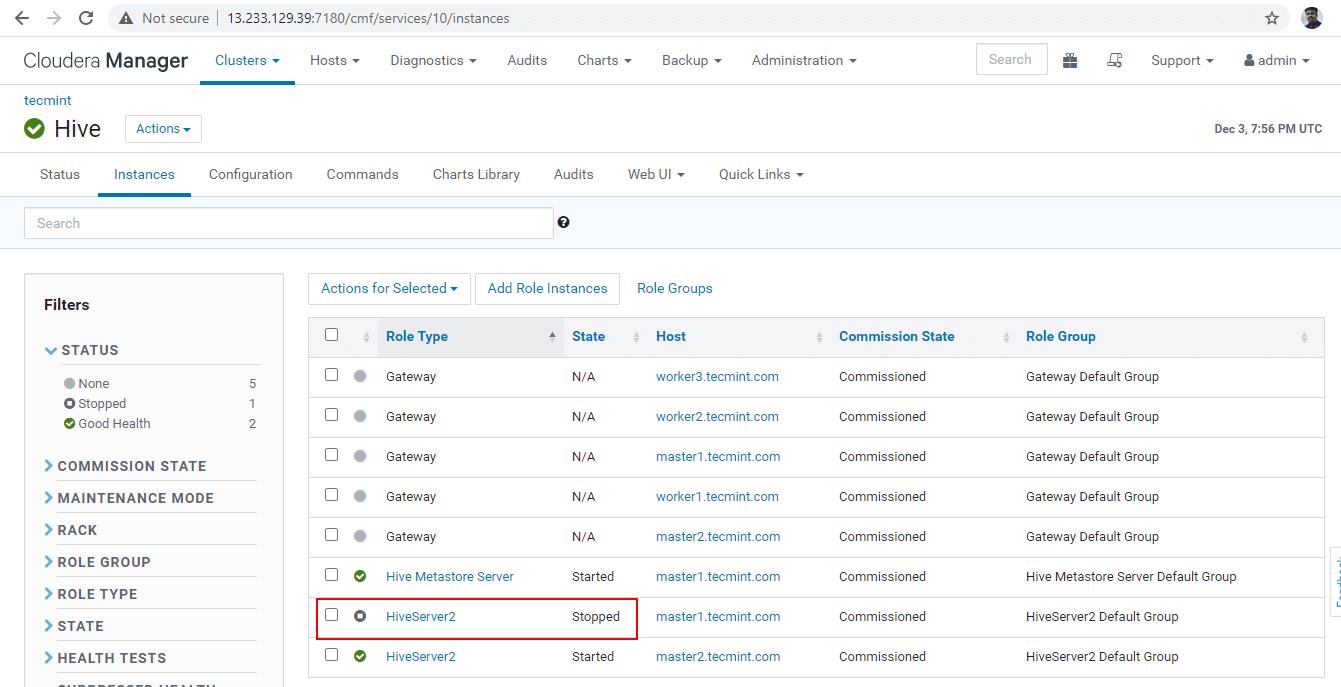 Verify Hive Server