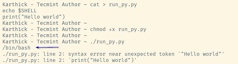 Wrong Interpreter in Script