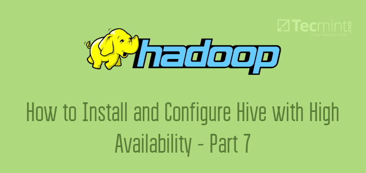 Enable Hive with High Availability