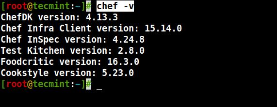 Check Chef Version