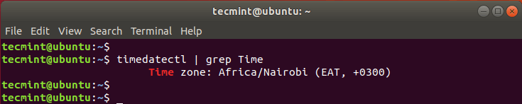 Check Linux System Timezone