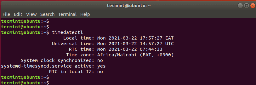 Check Time and Date in Linux