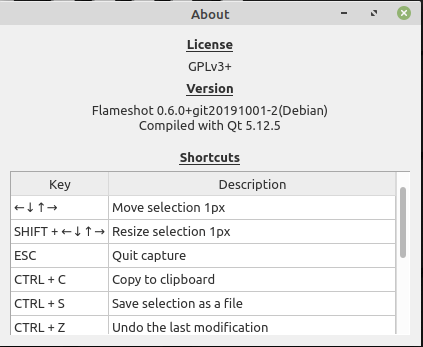 Flameshot Shortcut Keys