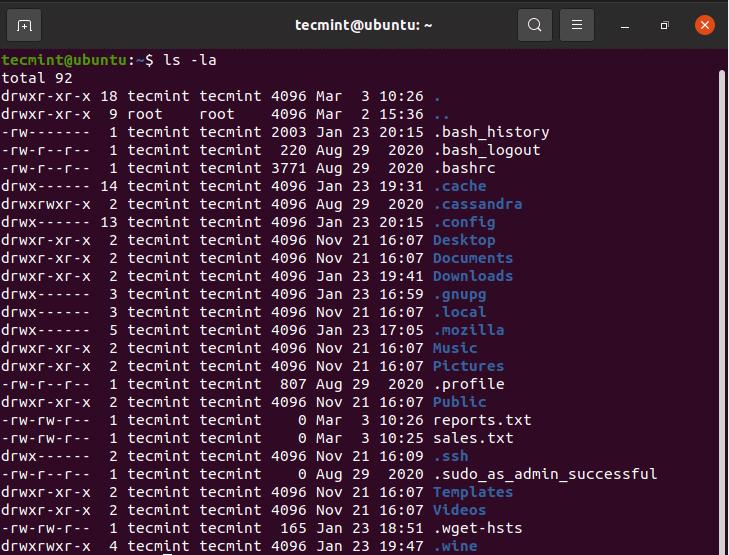Lista Archivos ocultos en Linux