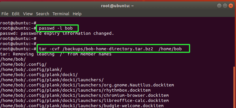 Lock User Account in Linux