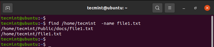 Search Files in Linux