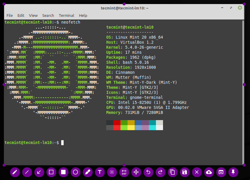 Take Linux Desktop Screenshot