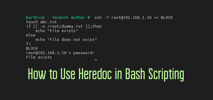 Use Heredoc in Bash Scripting