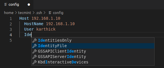 VSCode Auto Suggestions