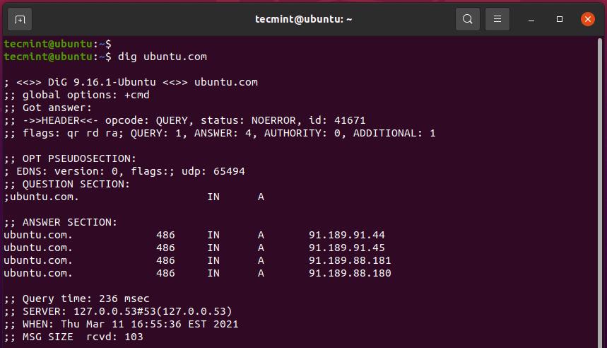 dig - Network Administartion Tool