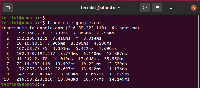 Traceroute - Network Diagnostic Tool