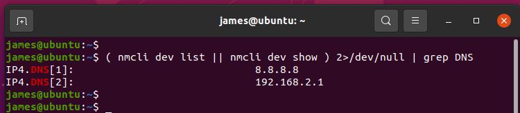Check DNS Using nmcli Command