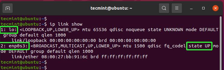 Check Network Interface Status