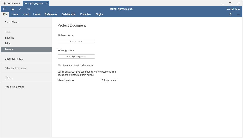 Remove Digital Signature on Documents