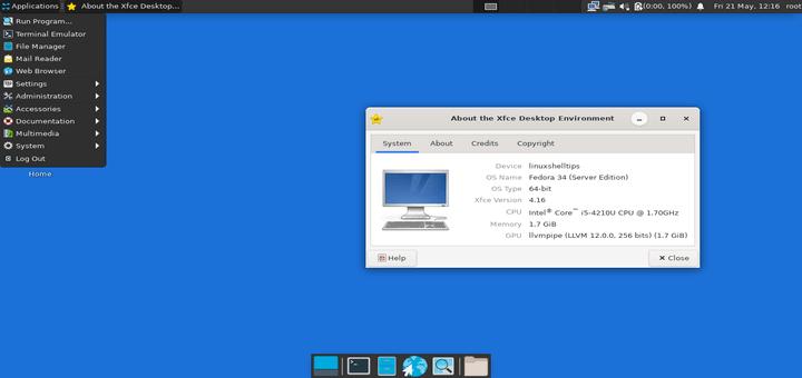 Install XFCE Desktop in Ubuntu and Fedora