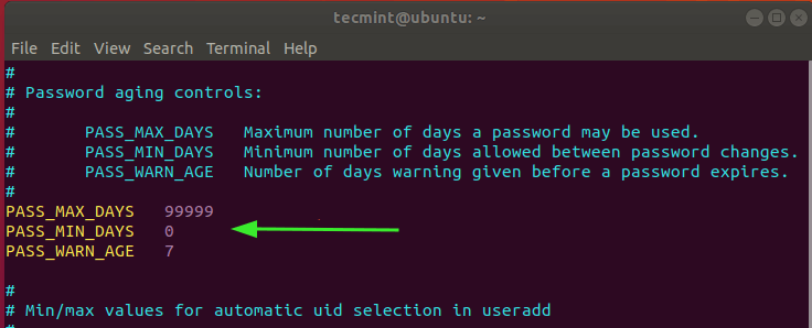 Linux Password Aging
