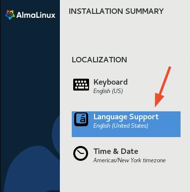 AlmaLinux Language Support
