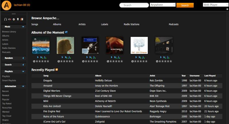 Ampache - Music Streaming Server