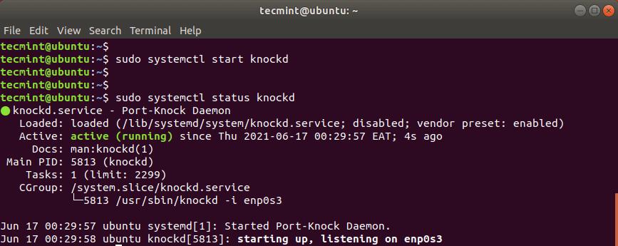 Check knockd Status