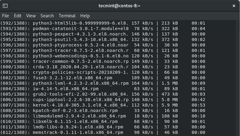 Downloading Packages from Rocky Linux Repo