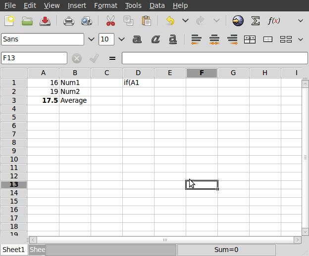 Gnumeric Spreadsheet for Linux