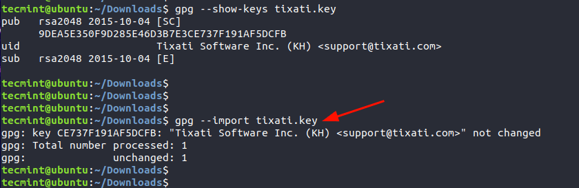Import GPG Key
