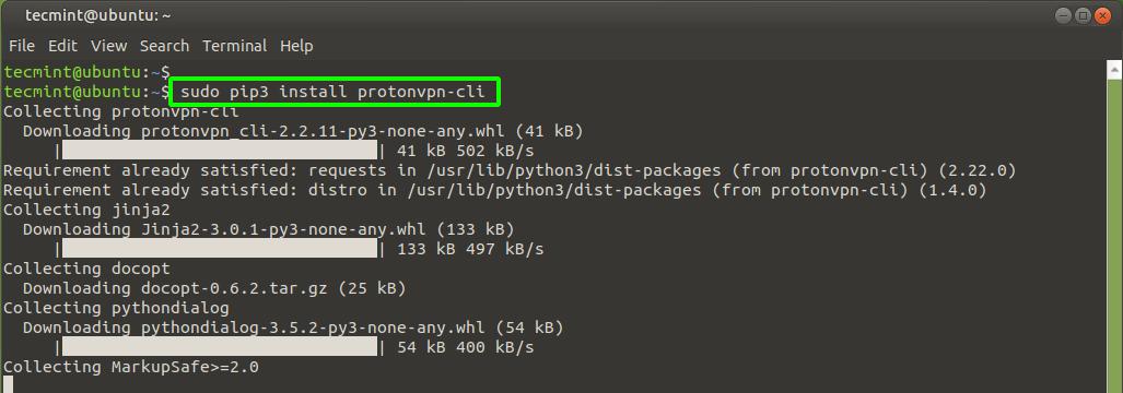 Install ProtonVPN on Ubuntu