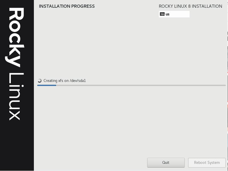 Rocky Linux Installation Process