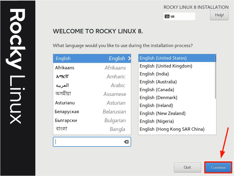 Rocky Linux Language