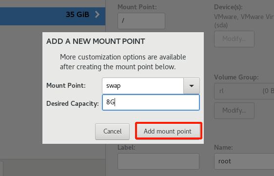 Rocky Linux Swap Partition